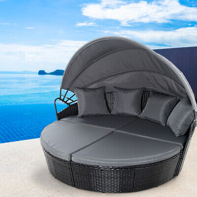 AU756.90 • Buy Gardeon Outdoor Lounge Setting Patio Furniture Sofa Wicker Rattan Garden Day Bed