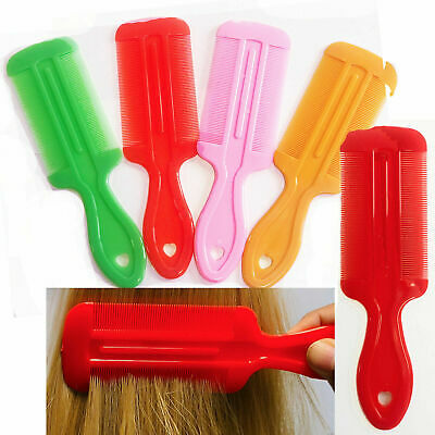 2 Lice Comb Hair Fine Nit Free Kids Double Sided Care Pet Louse Removal Egg • 2.99£