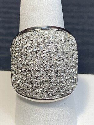 $ CDN31.44 • Buy Silver Plated Signed  Lia Sophia Micro Pave Cocktail Crystal Gift Ring Size 9