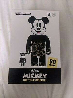 $295 • Buy A BATHING APE × BEARBRICK X MICKEY MOUSE BE@RBRICK 400% & 100% Green Medicom Toy