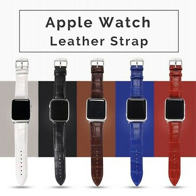 $ CDN9.32 • Buy For Apple Watch Series 6 5 4 3 2 1 SE Leather IWatch Band Strap 40/44/38/42mm