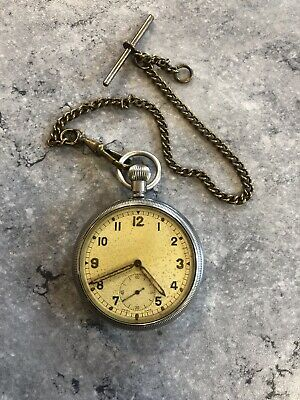 Pocket Watch - Military - G.S.T.P - WW2 - Swiss Made - Antique - Rare • 80£