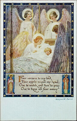 Four Corners To My Bed… By Margaret W. Tarrant, Vintage Medici Society Postcard  • 3.75£