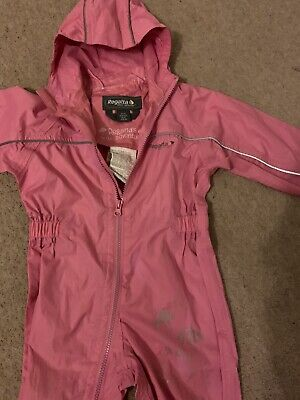 Regatta Pink Splash Suit Puddle Suit Waterproof All In One 24-36 Months 2-3 Year • 4.40£