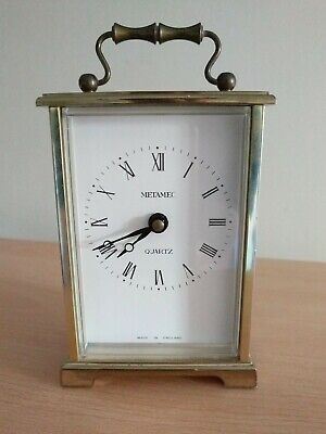 Vintage Metamec Quartz Carriage Clock Made In England (2015207) Battery Operated • 9.99£