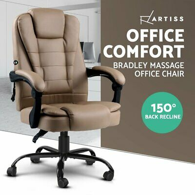 AU140.90 • Buy Artiss Massage Office Chair PU Leather Recliner Computer Gaming Chairs Espresso