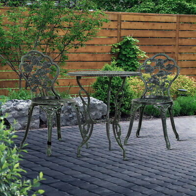 AU197.90 • Buy Gardeon Outdoor Setting 3 Piece Chairs Table Bistro Set Rose Cast Aluminum Patio