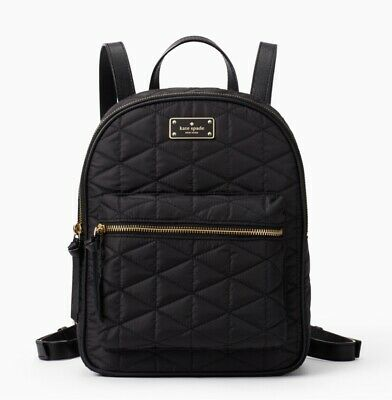 $ CDN184.14 • Buy KATE SPADE Wilson Road Quilted Small Bradley Backpack Black Travel Purse NWT