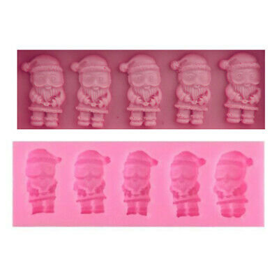 Santa Claus Silicone Christmas Mould Father Christmas Cake Chocolate Mould Soap • 3.69£