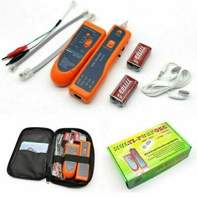 UK Telephone Network Cable Wire Line LAN Cable RJ45 Tracker Toner Tracer Tester • 20.99£