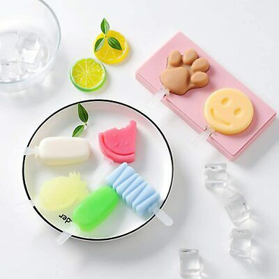 Ice Cream Mold Silicone Frozen Lolly Mould Popsicle Maker Tray Pan Kitchen DIY • 4.31£