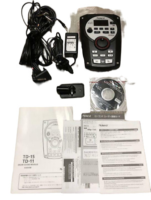 AU553.78 • Buy Roland TD-11 Drum Sound Module V-Drum W/Power Cable Mount From Japan USED