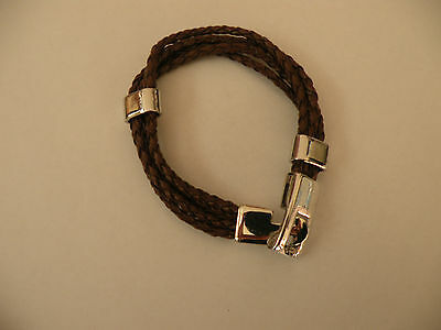 Men's Bracelet Alloy Leather Diamond Shell • 3.31£