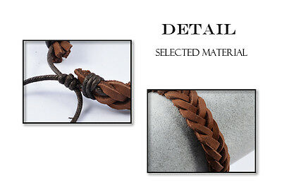 Men's Bracelet Braided Leather • 3.87£