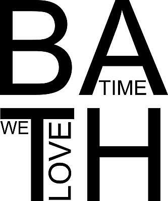 Love Bath Time, Bathroom, Wall Art Sticker, Home Decor, Quality DIY Decal Quotes • 3.99£