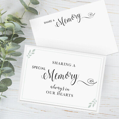 £5.99 • Buy 50x Funeral Remembrance Cards Share Memory Condolence Book Memorial Tribute Wake