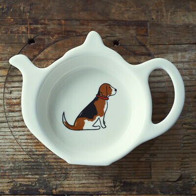 Tea Bag Holder Dish Rest | BEAGLE | Great Gift For Dog Lovers | FREE P&P • 9.89£