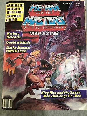 $4 • Buy 1986 He-Man Masters Of The Universe Magazine Summer 1986 No Poster