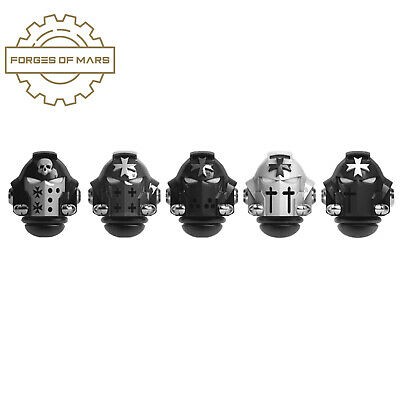 AU18.74 • Buy 40K BLACK TEMPLARS - Primaris Helmets - Crusaders (x5)