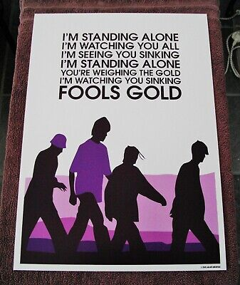 £14.40 • Buy Stone Roses Fools Gold A3 Size Typography Art Print/poster