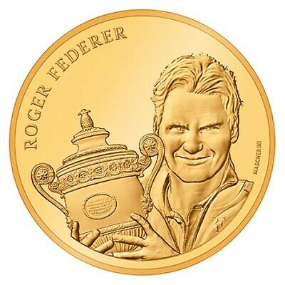 $1450 • Buy CHF 50 Francs Gold Coin 2020 Proof PP Roger Federer Switzerland Swiss Suiza