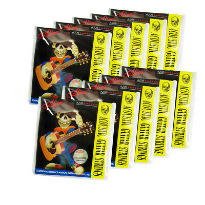 $ CDN33.33 • Buy Alice 10 Sets Acoustic Guitar Strings Steel Core Copper Alloy Wound Light Style