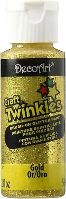 DecoArt Craft Twinkles Brush On Glitter Paint  2oz / 59ml FREE UK Postage • 5.95£