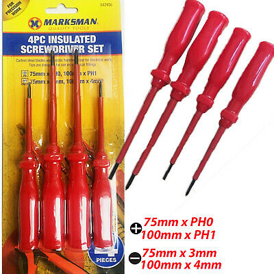 Precision Magnetic Drive Chrome Screwdriver Set Phillips Slotted Tool DIY Kit • 2.49£