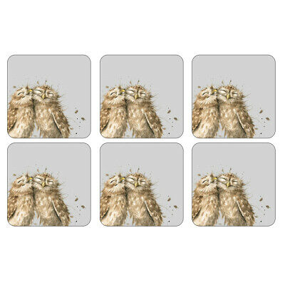 £12.10 • Buy Pimpernel Wrendale Owl Coasters Set Of 6 Grey Cute Animals Table Mats Dining
