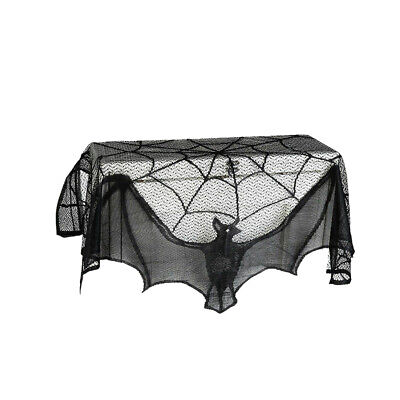 $ CDN6.85 • Buy Black Lace Bat Halloween Props Fun Spooky Scary Party Indoor Decorations Curtain