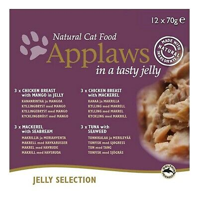 Applaws Cat Food Tin Multipack Jelly Selection Chicken 12x70g • 4.90£