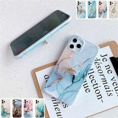 AU15.58 • Buy Marble Silicone Case Cover For IPhone 11 Pro Max XS XR 8 7Plus With Diamond Ring
