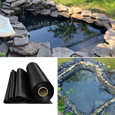 Various Sizes Fish Pond Pool Liners Heavy Duty HDPE Garden Landscaping Membrane • 55.14£