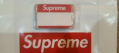 $ CDN30.68 • Buy Supreme FW20 Name Badge Stickers Pack Of 100 Red SOLD OUT IN HAND NEW NIB C-Line