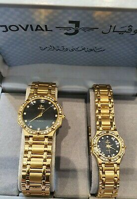 Jovial 22 Karat Gold Plated. His And Hers Watches. • 439£