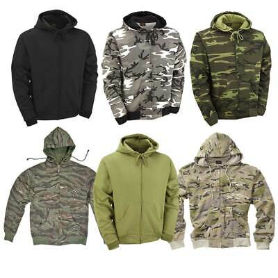 £16.50 • Buy Hoodie Army Combat Military Style US Tiger Snow Camo Hunting Fishing Work Black