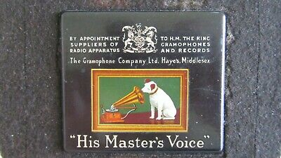 Vintage/antique Printed HMV Gramophone Radio Record Player Plaque/plate/badge • 55£