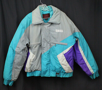 AU50.52 • Buy Vtg Yamaha Coat Jacket Snowmobile Colorblock Ski Snow Insulate Puffer 80s 90s XL