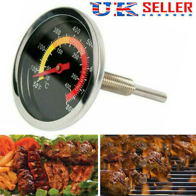 50-400℃ Stainless Steel Cooking BBQ Smoker Grill Thermometer Temperature Gauge • 5.89£