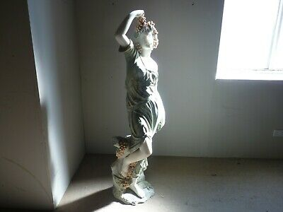 Large 63  Solid Marble & Granite Antique, Greek, Rome Style Carved Garden Statue • 699£