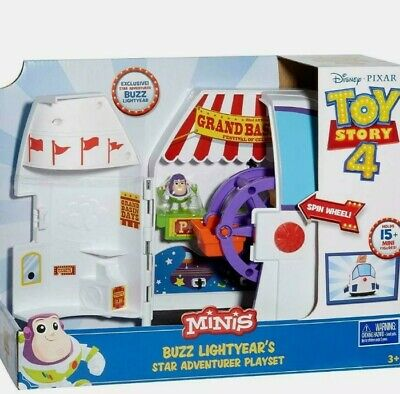 Disney Pixar Toy Story 4 Buzz Lightyear Carnival Playset Gift Space Ship  • 13.90£