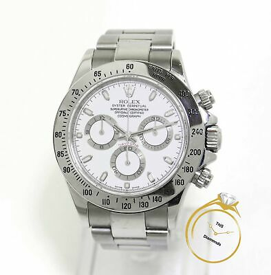 $ CDN26427.70 • Buy Rolex Daytona 116520 Steel White Dial 40mm K Serial Box Papers Complete