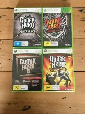 AU50 • Buy Guitar Hero Bundle 4X Games With Manuals Xbox 360 (PAL)