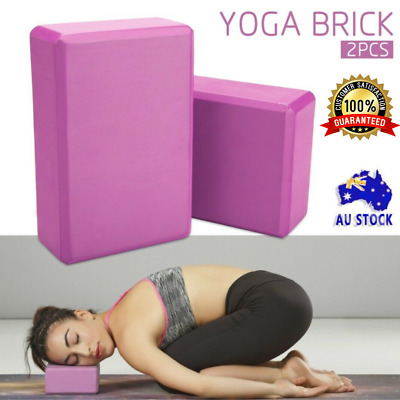 AU13.95 • Buy 2Pcs Yoga Block Brick Durable Foaming Home Exercise Practice Fitness Gym Sport