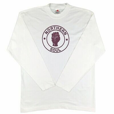 ***Northern Soul*** Vintage T Shirt - Retro Tee - Music - Large - Long-sleeved  • 17.99£