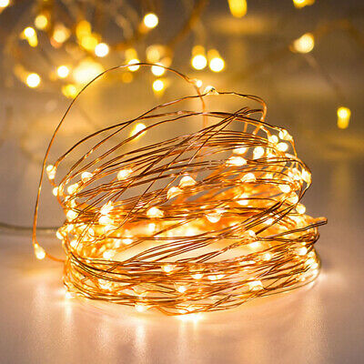 20M 200 LED Battery Cooper Wire String Fairy Lights Xmas Party Remote Control UK • 8.32£