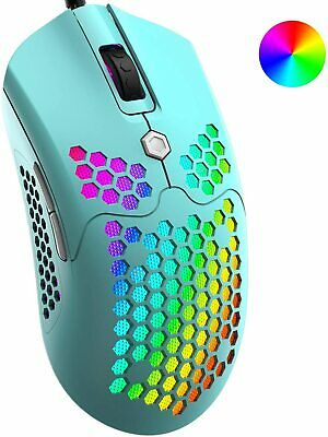 AU36.27 • Buy Lightweight Gaming Mouse RGB Backlit 12000 DPI Honeycomb Shell Mouse For PC PS4