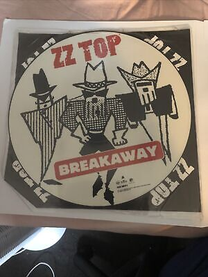 ZZ TOP BREAKAWAY Shaped VINYL Picture Pic Disc + Insert NM Collector Item LC0316 • 16.79£