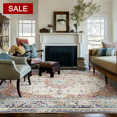 AU67 • Buy Large Floor Rugs Rust Red Allover Distressed Trational Persian Carpet Mat 5 Size