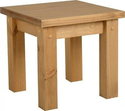 Waxed Pine Wooden Nest Table, Side Tables, Side, End Table Bedside, Living Room  • 47.95£